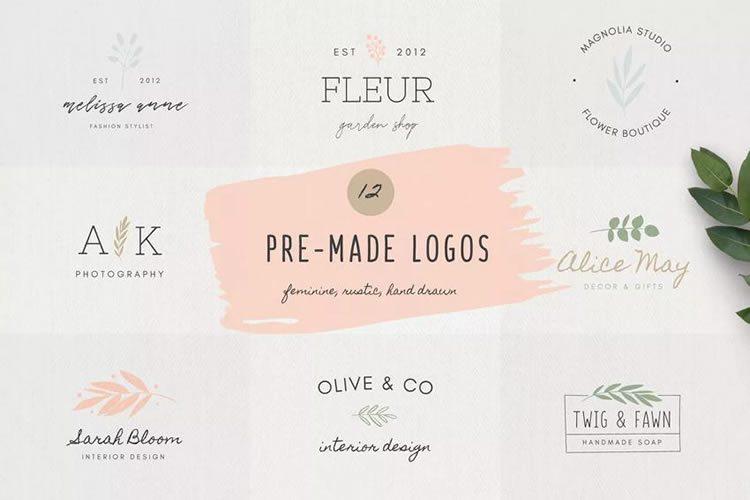 10 ilmaista kokoelmaa naisten logomalleista suunnittelijoille