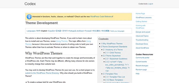 WordPress.org - Datblygu Themâu