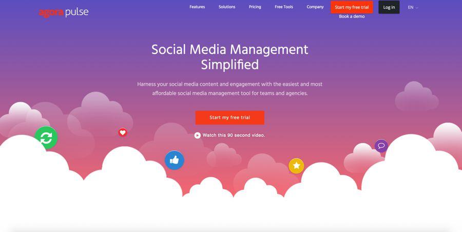 agorapulse gestión de redes sociales
