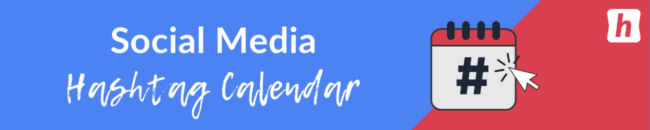 calendario de hashtag de redes sociales