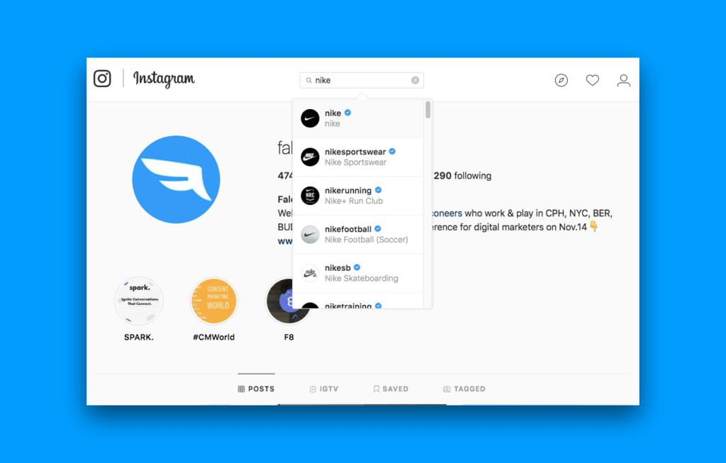 cómo verificar la cuenta de instagram con cheque azul