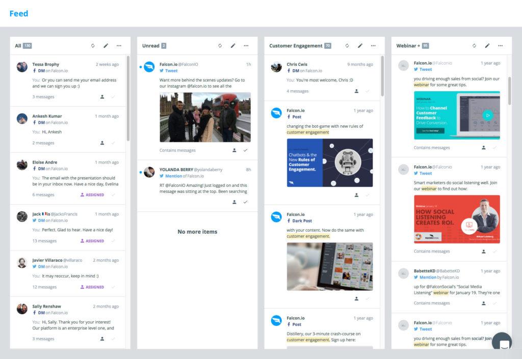 herramienta de servicio al cliente de gestión de redes sociales para responder a los comentarios