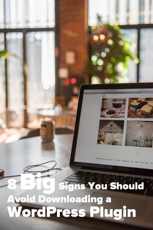 8 excelentes señales para evitar al descargar un complemento de WordPress - Pinterest Imagen