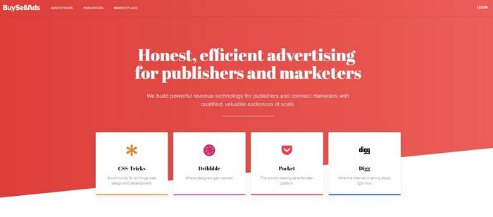 BuySellAds, en yüksek ücretli Adsense alternatiflerinden biridir