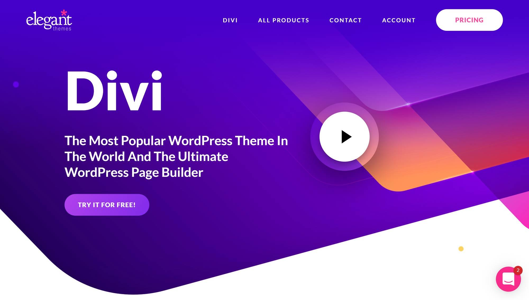Divi WordPress mövzusu