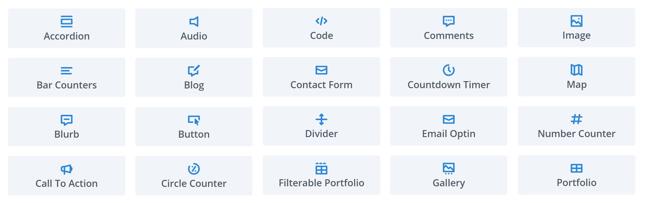 Divi Page Builder modulları