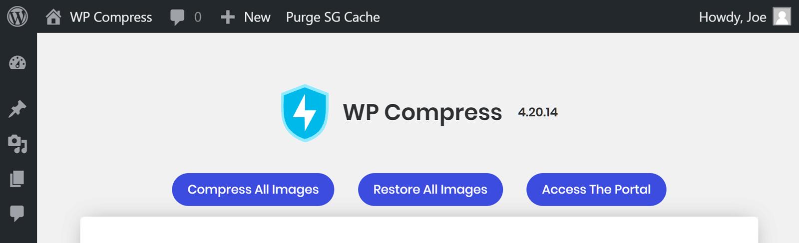 Comprima todas las imágenes con WP Compress