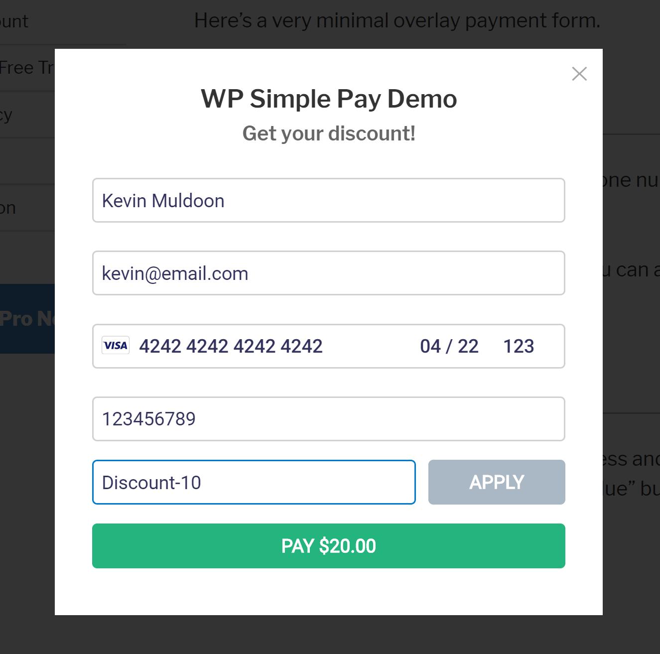 WP Sadə Örtmə Forması