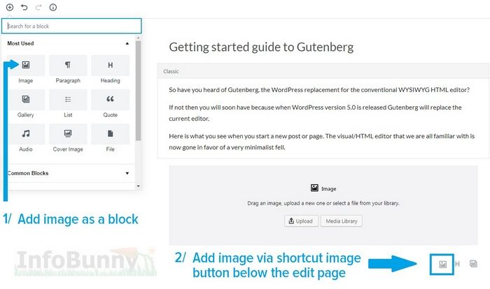 My Gutenberg Simple Start Guide - Images