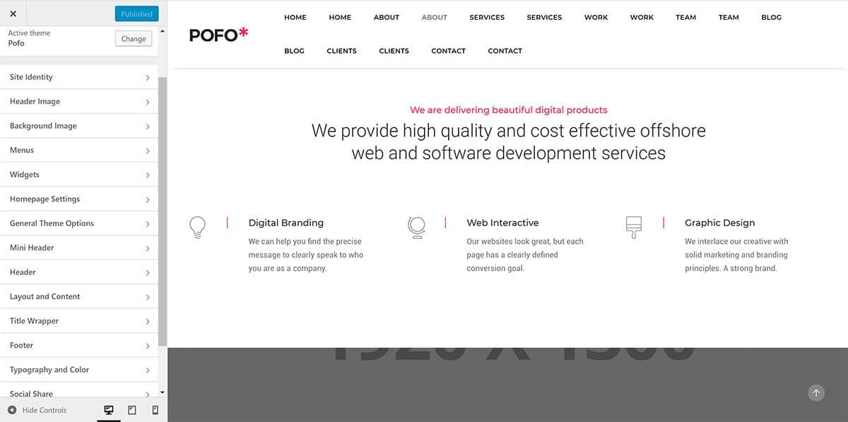 Tùy biến chủ đề WordPress của Pofo