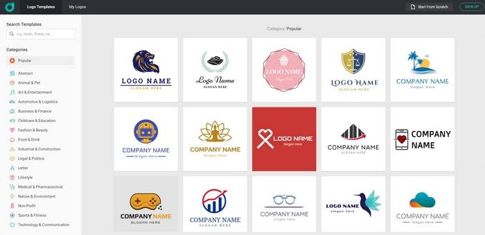 Hvordan lage en logo i DesignEvo