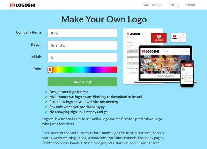 Hvordan lage en logo i Logoshi
