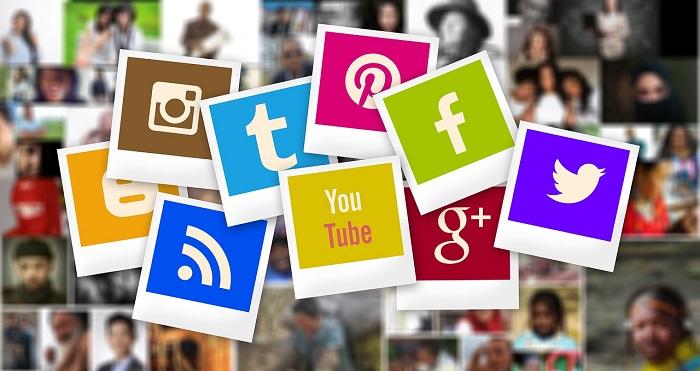 đồ họa logo truyền thông xã hội