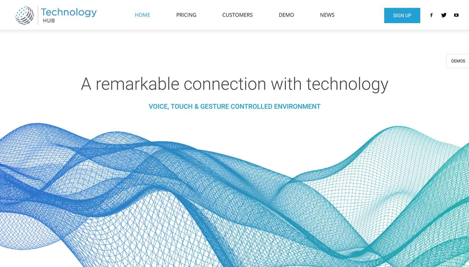 Ukážka webovej stránky služieb