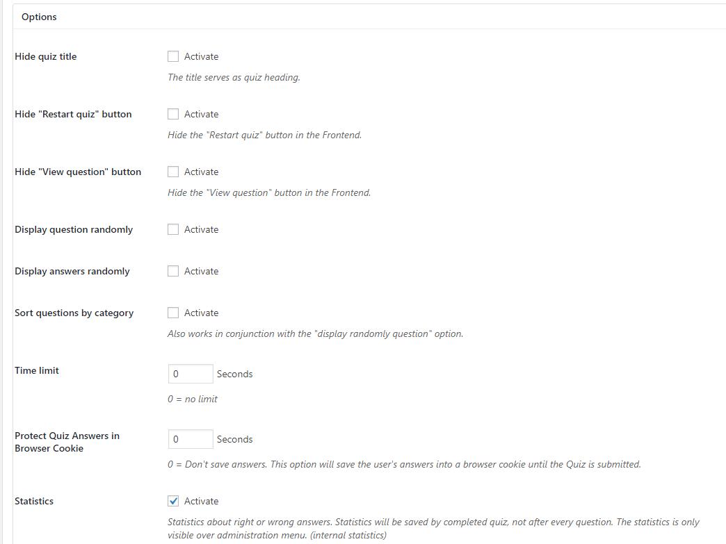 bảng câu hỏi học tập