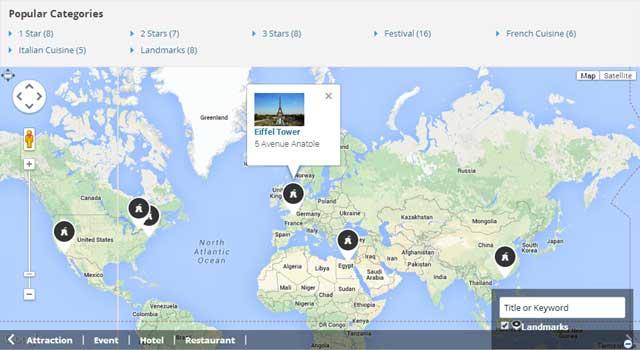 Mapa de la página de inicio