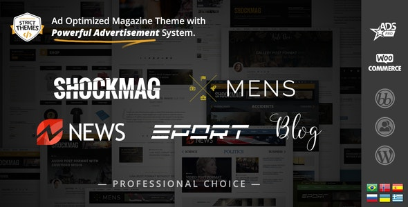 Shockmag - Ən yaxşı WordPress reklam mövzusu