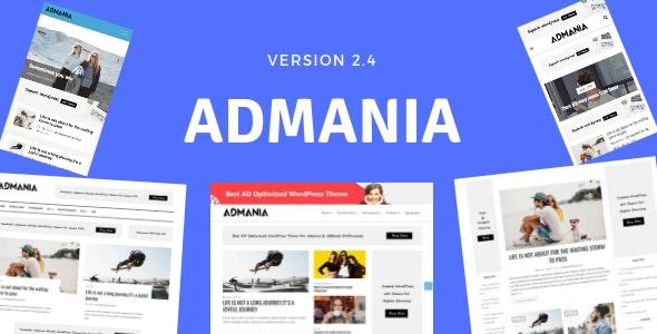 Admania - Ən yaxşı WordPress Reklam mövzusu
