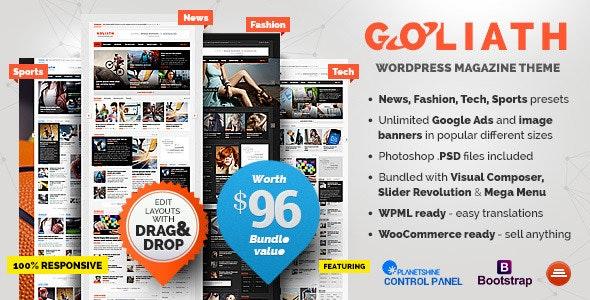 Goliath - Ən yaxşı WordPress Reklam mövzusu