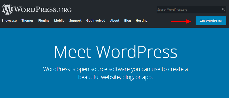 sitio web oficial de wordpress