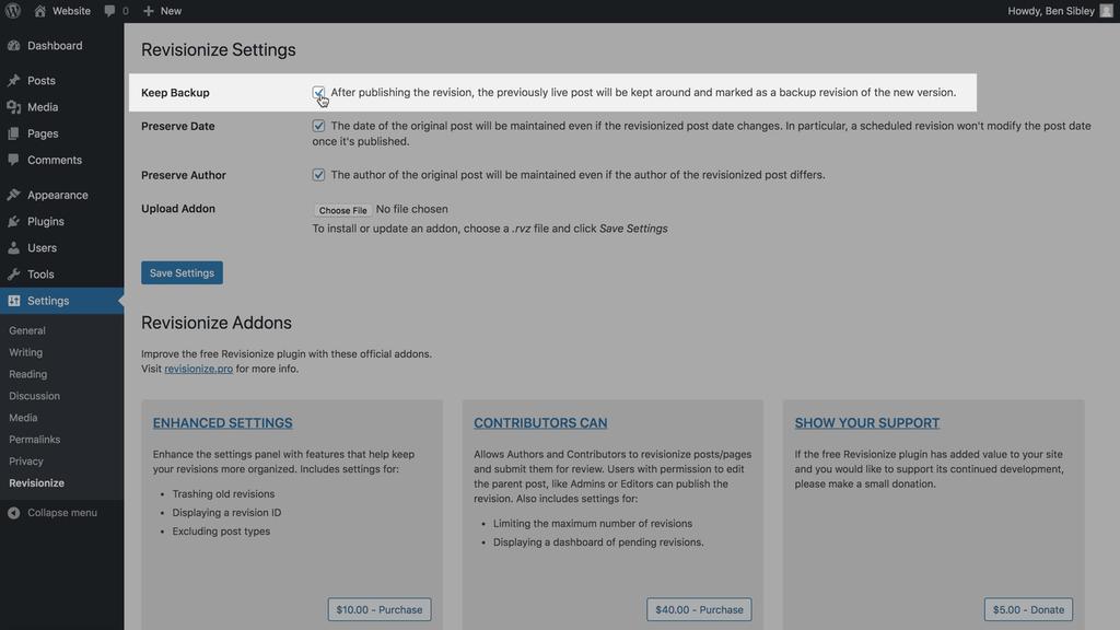 Revise la configuración de Mantener copia de seguridad