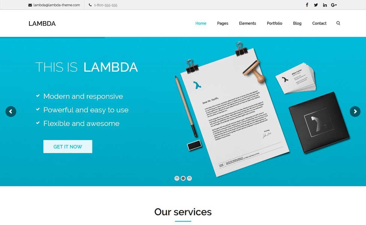 Lambda - Das beste WordPress Bootstrap-Thema
