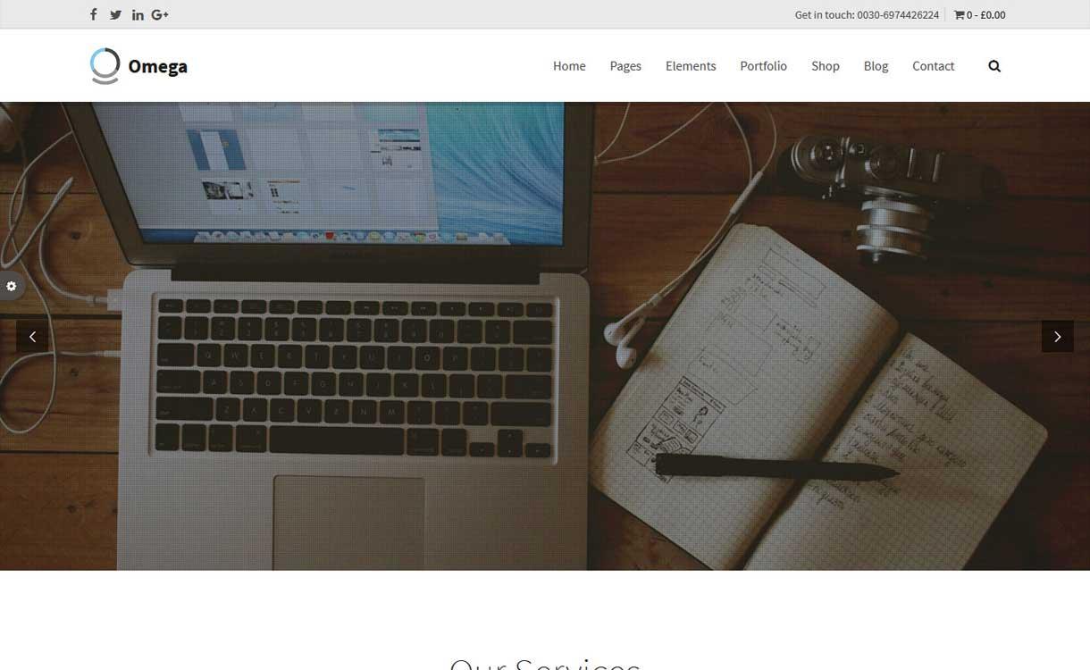 Omega - Das beste Bootstrap WordPress-Theme