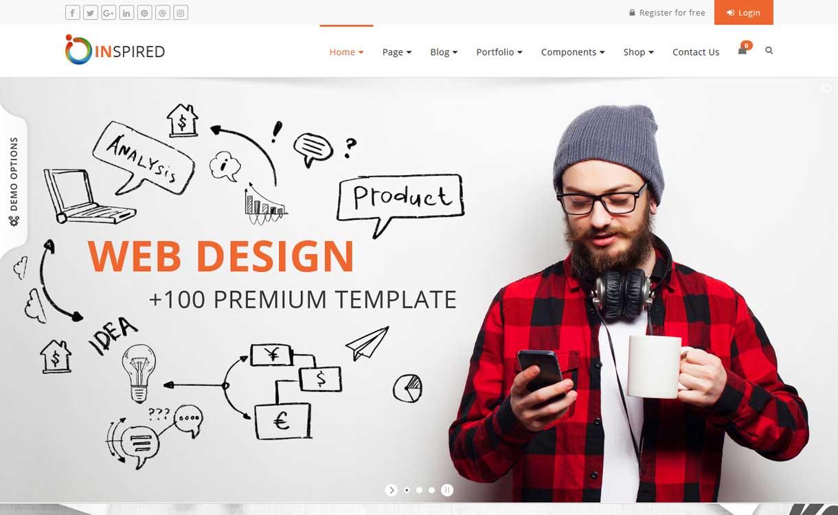 Inspiriert - Das beste Bootstrap WordPress-Theme