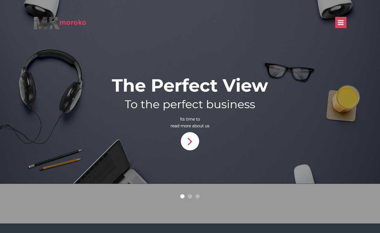 Moroko - Bestes WordPress Bootstrap Theme