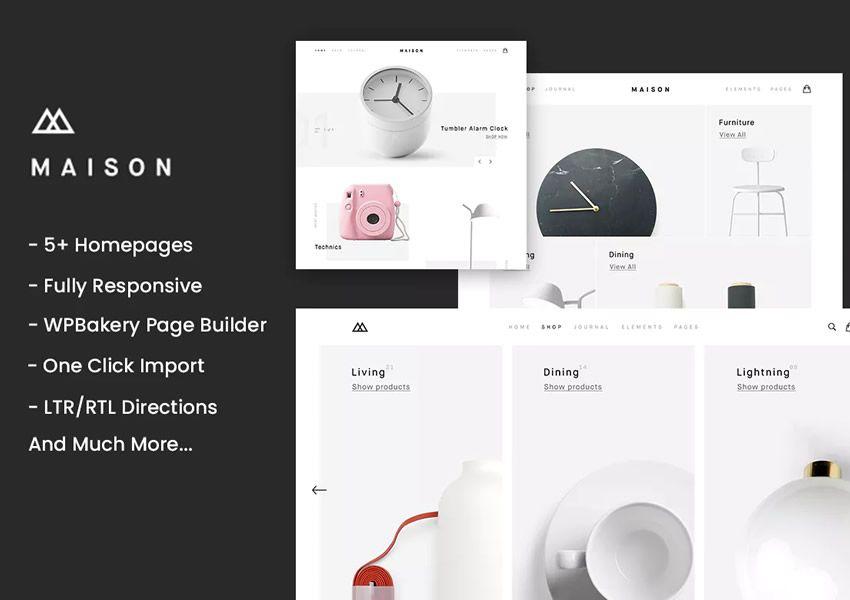 Maison Minimalistinen WordPress-teema verkkokaupan verkkokauppa