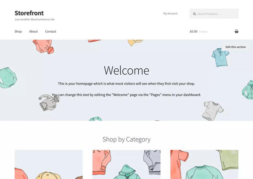 Ilmainen Storefront Minimaalinen WordPress-teema wp-reagoiva verkkokaupan verkkokauppa