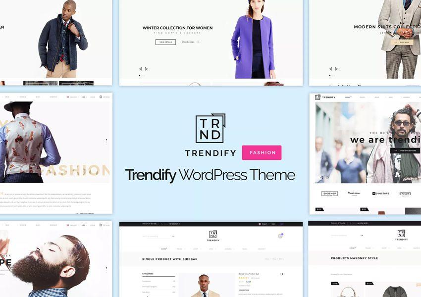 Trendify Fashion wordpress -teeman verkkokaupan verkkokauppaa