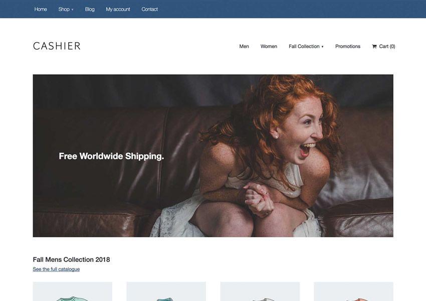 Cashier Starter ilmainen WordPress-teema wp-reagoiva verkkokaupan verkkokauppa