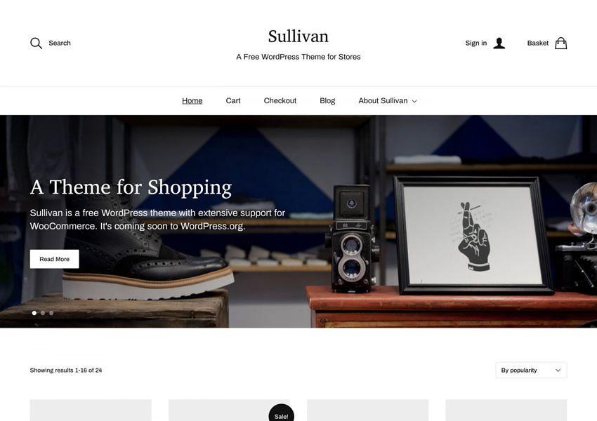 Sullivan ilmainen WordPress-teema wp-reagoiva verkkokaupan verkkokauppa