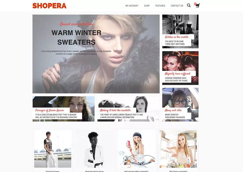 Shopera Free muokattavissa oleva WordPress-teema wp-reagoiva verkkokaupan verkkokauppa