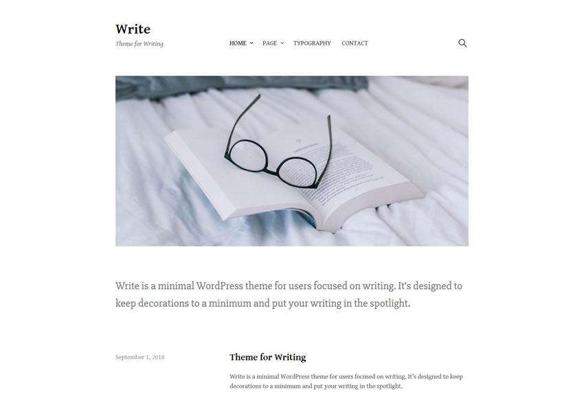 Escribe un tema gratuito de WordPress.