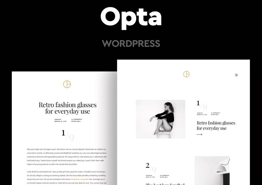 Opte por un artículo mínimo del artículo largo del escritor de plantillas de temas de WordPress