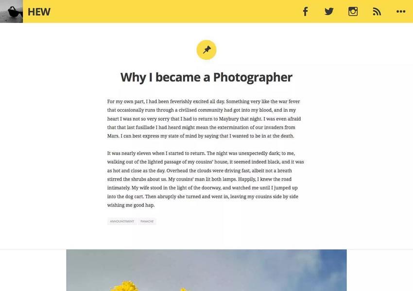 Plantilla de tema de blog de artículo de blog largo de WordPress Candor