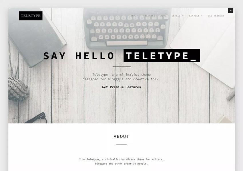 Minimalista tema minimalista wordpress wp plantilla receptiva escritor de blog artículo largo