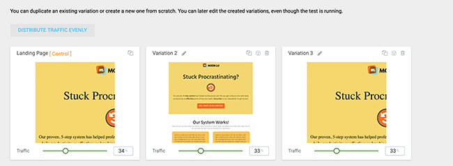 19 Müxtəlif test variantları üçün prosesi təkrarlayın