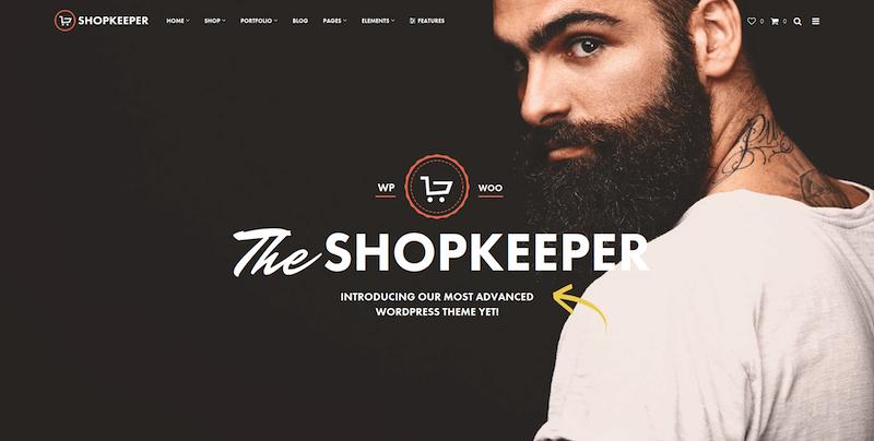 Téma WordPress pre obchodníkov na stránkach elektronického obchodu