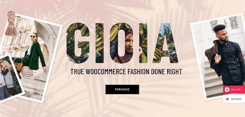 Téma Gioia WordPress pre webové stránky elektronického obchodu