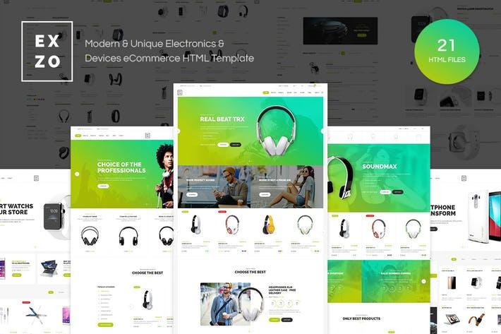 Ezxo WordPress Téma pre webové stránky elektronického obchodu