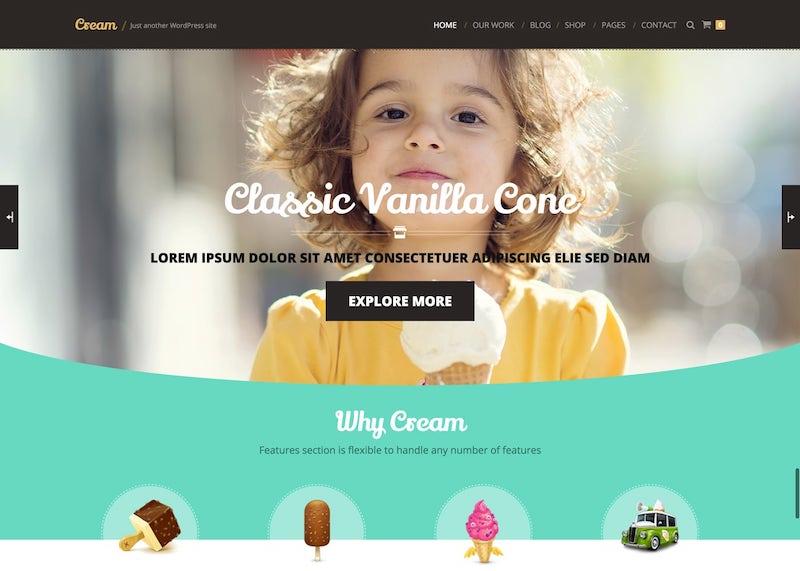 Krém WordPress Téma pre webové stránky elektronického obchodu