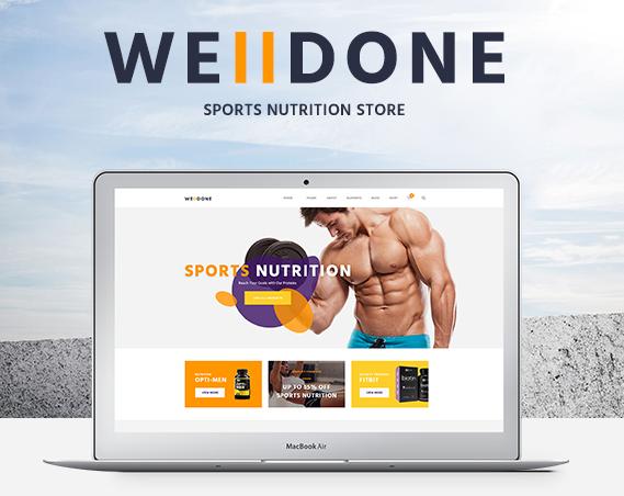 Dobre urobená téma WordPress pre webové stránky elektronického obchodu