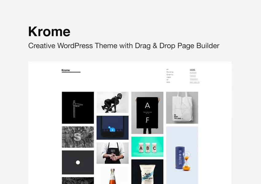 krome wordpress blog theme design minimalista limpo