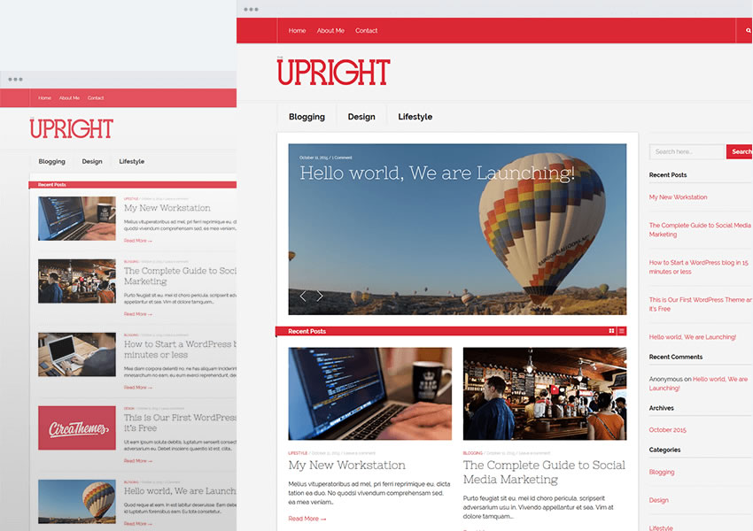 Tema vertical WordPress grátis responsivo wp blog design minimalista minimalista leve
