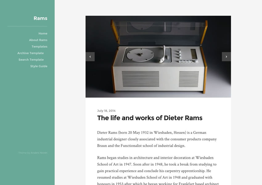 rams grátis wordpress tema wp blog responsivo design minimalista luz minimalista
