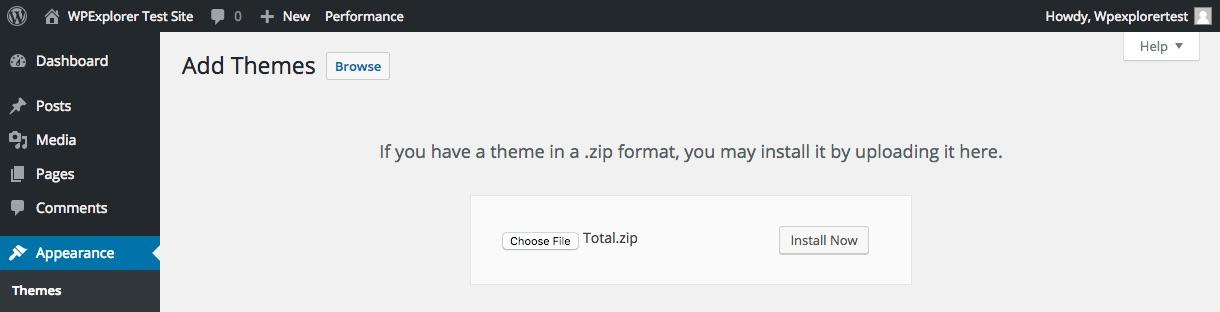 Téléchargez votre fichier Zip WordPress Theme