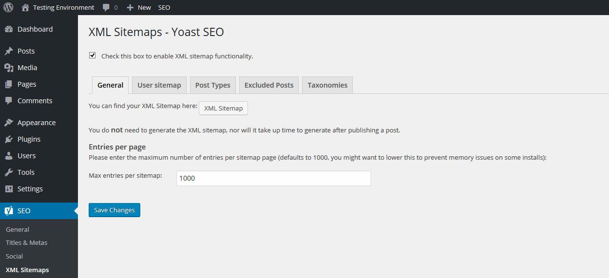 Sơ đồ trang web Yoast XML
